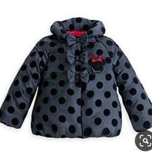 NWT Disney Minnie Mouse Puffer polka dot Jacket